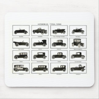 Old and classic car (retro auto): Vintage Cars Mouse Pad