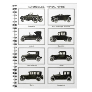 Old and classic car (retro auto): Vintage Cars Notebook