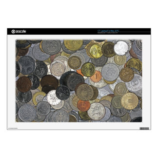 Old and international coins decals for laptops