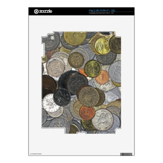 Old and international coins decals for the iPad 2