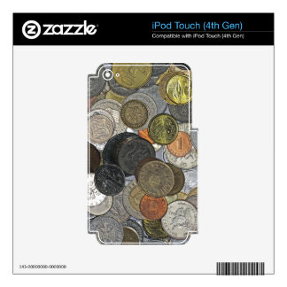 Old and international coins iPod touch 4G skins