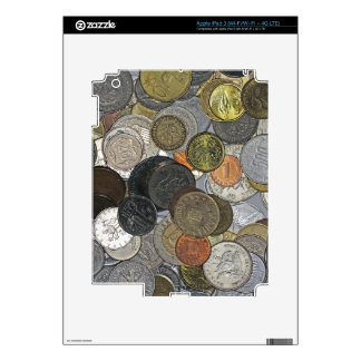 Old and international coins skin for iPad 3