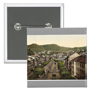 Old and new roads, Carlsbad, Bohemia, Austro-Hunga Pinback Buttons