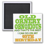 Old and Ornery 65th Birthday Gifts Fridge Magnet