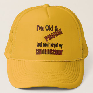 Old and Pround Funny Hat, Cap, Baseball Cap