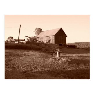 Old And Steady Barn-  Postcard