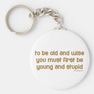 Old and Wise Keychain