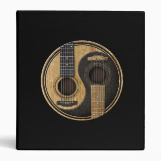 Old and Worn Acoustic Guitars Yin Yang Binder