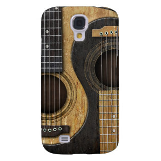 Old and Worn Acoustic Guitars Yin Yang Galaxy S4 Cover