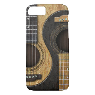 Old and Worn Acoustic Guitars Yin Yang iPhone 7 Case