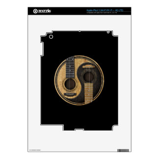 Old and Worn Acoustic Guitars Yin Yang iPad 3 Decal