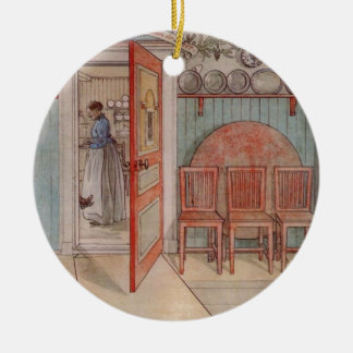 Old Anna (in the Kitchen) Double-Sided Ceramic Round Christmas Ornament
