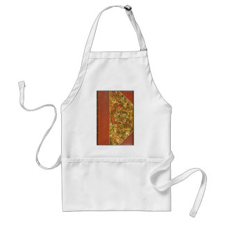 Old Antique Book, Ornate Swirl Pattern Adult Apron