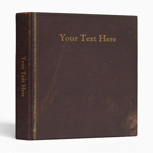 old antique book  retro faux leather bound 3 ring binder
