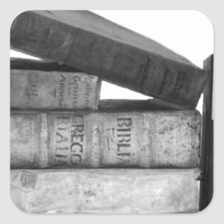 Old Antique Books Square Sticker