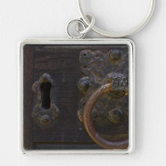 Old antique door knocker key chain