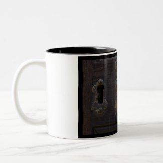 Old antique door knocker mug mug