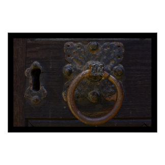 Old antique door knocker - poster print