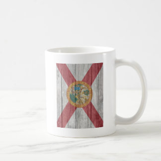 Old antique faded wood Florida Flag Coffee Mug