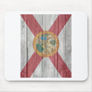 Old antique faded wood Florida Flag Mousepads