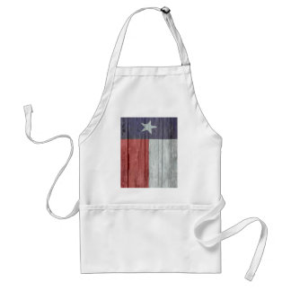 Old antique faded wood Texas Flag Apron