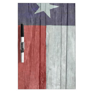 Old antique faded wood Texas Flag Dry-Erase Board