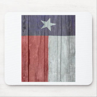 Old antique faded wood Texas Flag Mouse Pad