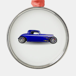 Old Antique Hot Rod Car Christmas Ornaments