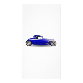 Old Antique Hot Rod Car Photo Card Template