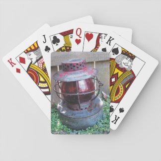 Old Antique Train Railroad Lantern Playing Cards