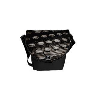 Old Antique Typewriter Keys Black White Courier Bag