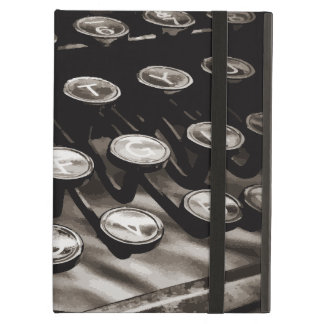 Old Antique Typewriter Keys Black White iPad Air Cover