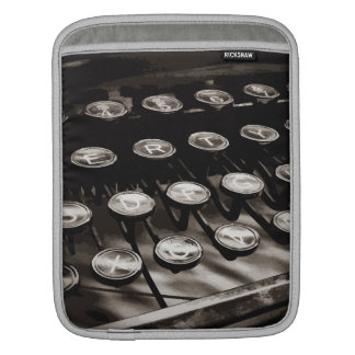 Old Antique Typewriter Keys Black White iPad Sleeve