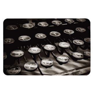 Old Antique Typewriter Keys Black White Magnet