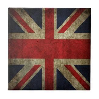 Old Antique UK British Union Jack Flag Ceramic Tile