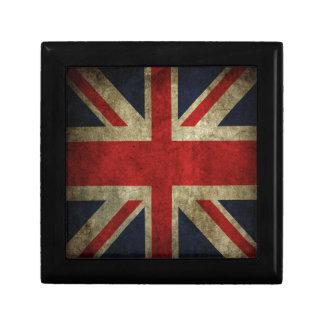 Old Antique UK British Union Jack Flag Keepsake Box