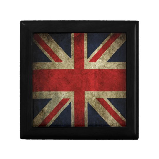 Old Antique UK British Union Jack Flag Gift Box