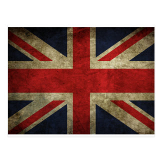 Old Antique UK British Union Jack Flag Postcard