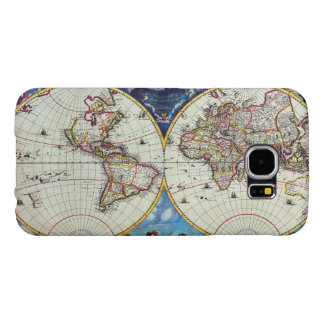 Old Antique Vintage Map of Known World Circa 1630 Samsung Galaxy S6 Case