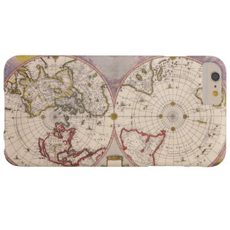 Old Antique World Map Barely There iPhone 6 Plus Case