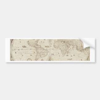Old, Antique World Map Bumper Sticker