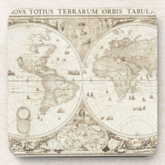 Old, Antique World Map Coaster