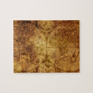 Globe atlas reprint print jigsaw puzzles zazzle old antique world map historical jigsaw puzzle gumiabroncs Choice Image