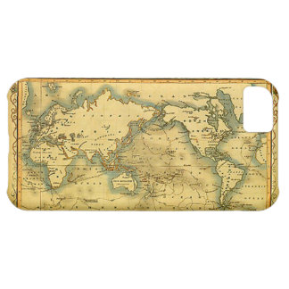 Old Antique World Map iPhone 5 Case
