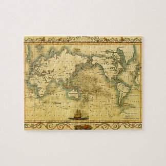 Old Antique World Map Jigsaw Puzzle