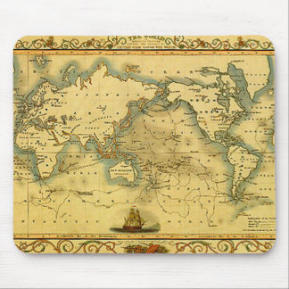 Old Antique World Map Mouse Pad