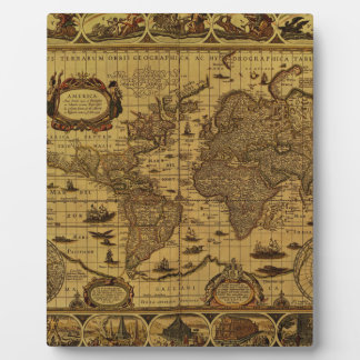 Old Antique World Map Plaques