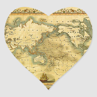 Old Antique World Map Stickers