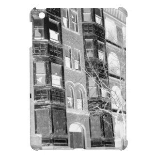 Old Apartment Buildings B/W negative iPad Mini Case