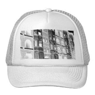 Old Apartment Buildings B/W negative Trucker Hat